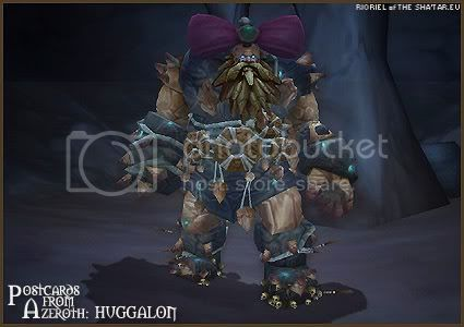 Rioriel and Nevik's daily World of Warcraft screenshot presentation of significant locations, players, memorable characters and events, assembled in the style of a series of collectible postcards. -- Postcards of Azeroth: Huggalon the Heart Watcher