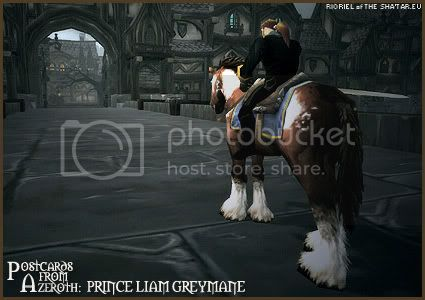 Postcards of Azeroth: Prince Liam Greymane, by Rioriel Ail'thera of theshatar.eu